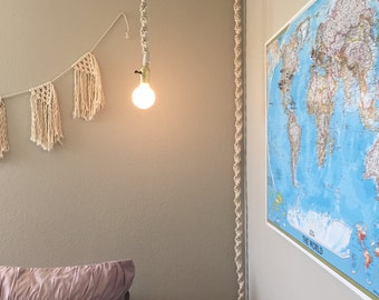 Macrame Hanging Light/Hanging Macrame Pendant Light/Hanging Pendant Light/Hanging Light/ & Hanging light | Etsy azcodes.com