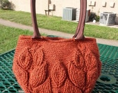 INSTANT DOWNLOAD Branches of Leaves Handbag– Crochet Pattern