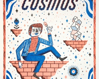 Carl Sagan's Cosmos - Science, Physics, Risograph Print