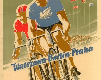 Peace Race - 1954 - Bicycle Poster (#0435) 6 sizes