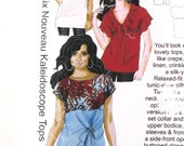 All Sizes Tops Blouse Tunic Sewing Pattern Hot Patterns HP 1111 Classix Nouveau Kaleidoscope 2000s Misses Womens Sizes 6-26 Bust 32-52 UNCUT