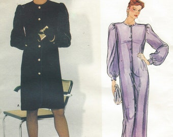80s Givenchy Womens Straight Dress Day or Evening Vogue Sewing Pattern 1278 Size 14 Bust 36 UnCut Vogue Paris Original Patterns