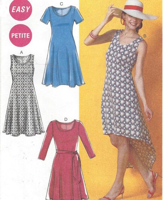 Womens Knit Dresses and Belt T Shirt Dresses McCalls ...