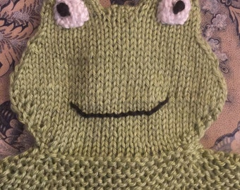 Finley the Frog Lovey, Security Blanket, Green, Babies, Toddlers