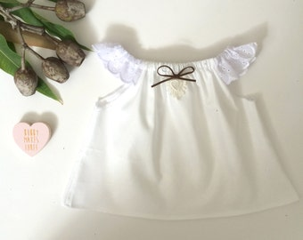 White Boho Baby Summer Crop Top