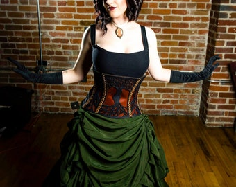 Tree of Life Dryad Leather corset