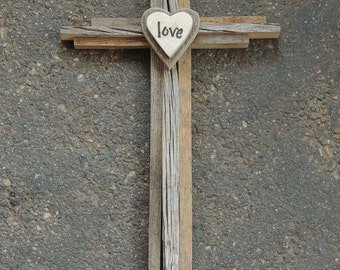 RESERVED FOR BETH, Rustic Wood Cross, Rustic Wedding Cross, Baptism Cross, Recycled Wood Cross, Barn Wood, Nursery Cross, Reclaimed Aspen