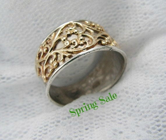 lace ring silver gold ring floral gold ring lace gold by