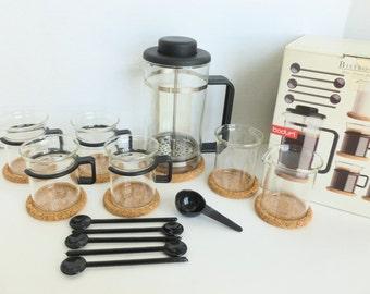 Bodum Bistro Set Designed by Carsten Jorgensen K1590 French Coffee Press and Accessories