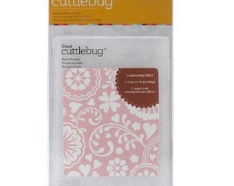 "Cuttlebug Embossing Folder ""FLORAL FANATSY"" A2 New in Package botanical pattern clover patterned Cricut Provo Craft"