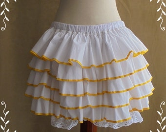 Short bloomers with ruffles asorted colors-XS-S-M-L-XL-XXL -Lolita -Steampunk -Burlesque -Can Can -Circus -(Bitter & Sweet)