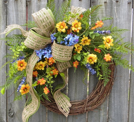 spring designer wreath colorful spring summer wreath front door