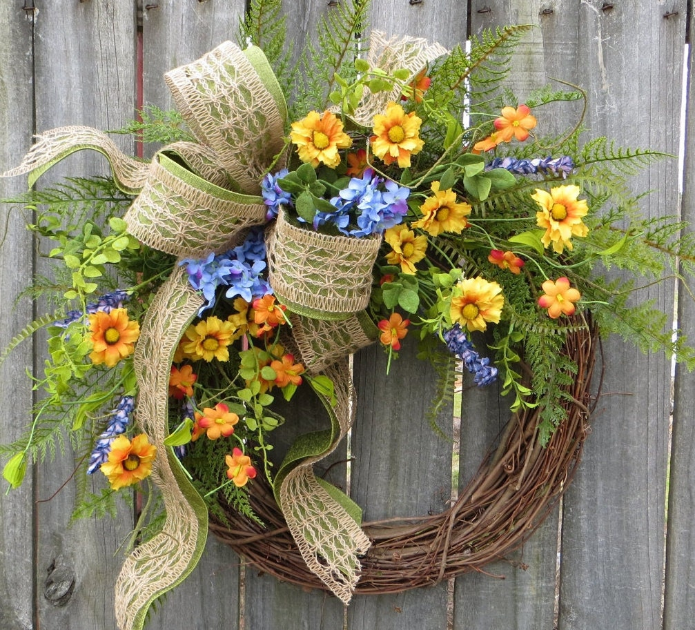Wildflower Wreaths Spring Wreaths Spring Wildflower Wreaths