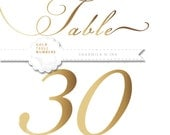 Custom Order for Amanda I Printable Gold Wedding Table Numbers 1 - 30 | Instant Download