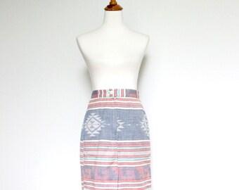 Womens Southwestern Skirt Size 6 Southwest Sout West Print Geometric Pastel Multi Color