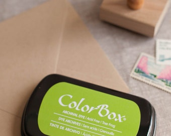 Green ink pad - Tree Frog green - Colorbox Archival Dye Ink Pad