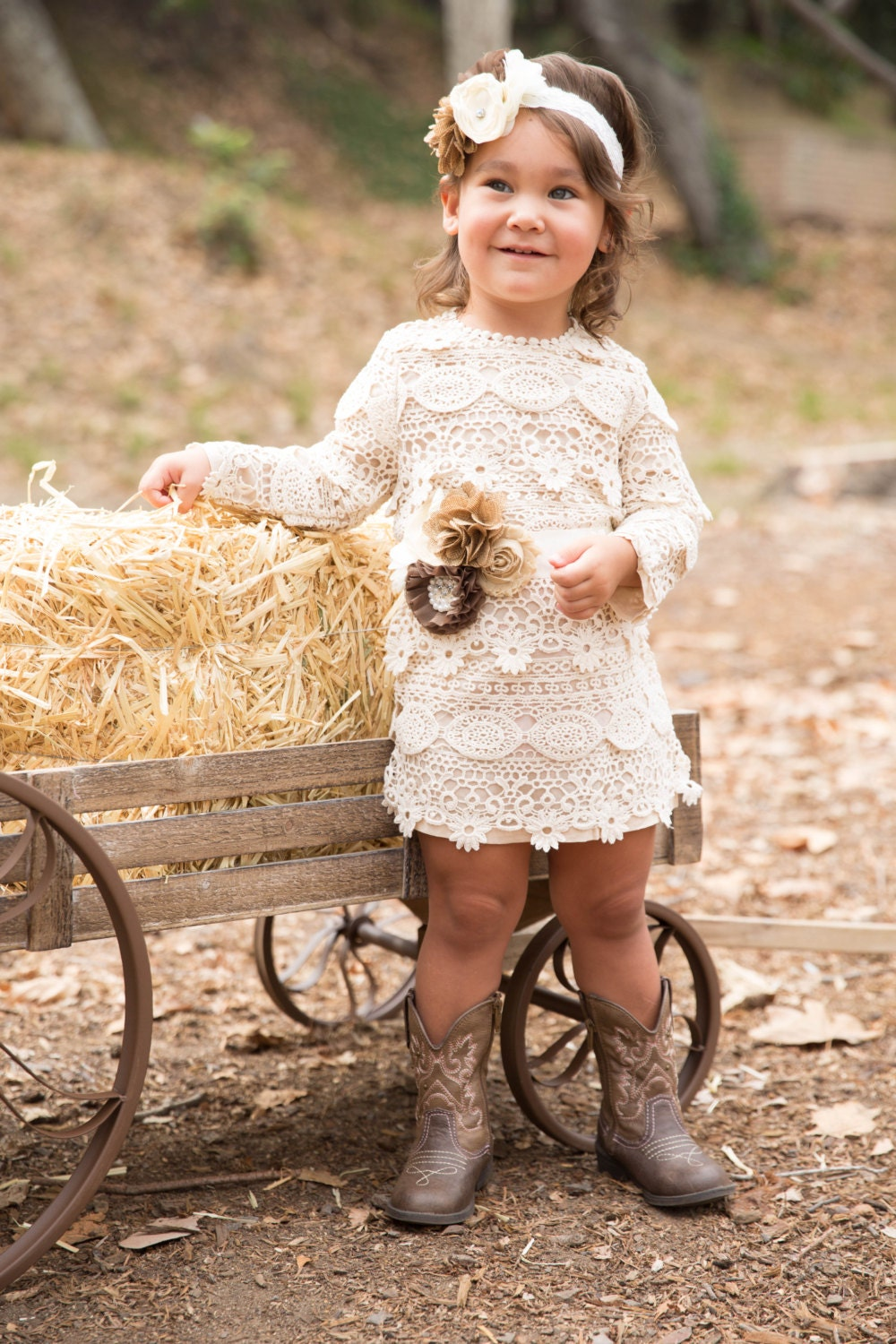 Lace Baby Dress Flower Girl Rustic Long