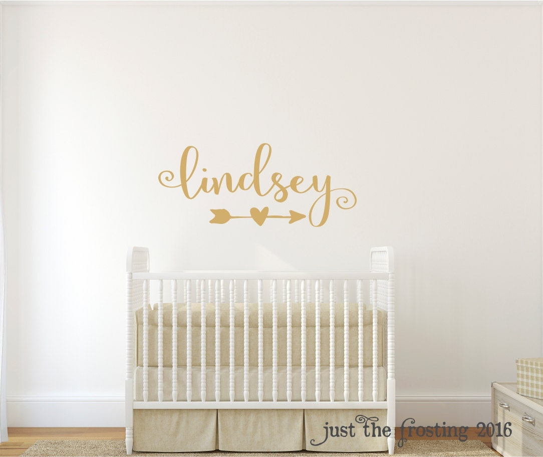 Gold Decor Gold Wall Decal Wall Decal Nursery Monogram