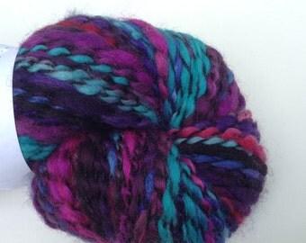 """Handspun yarn, """"Danger!"""" 5.9 oz, 196 yds"""