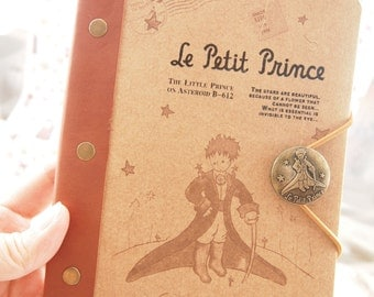 The Little Prince Notebook / Schedule  Le Petit Prince (brown)