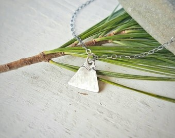 MOUNTAIN Necklace by Moondrops ///Artisan-made sterling silver /// Handcrafted gift for her /// Minimalist Jewelry