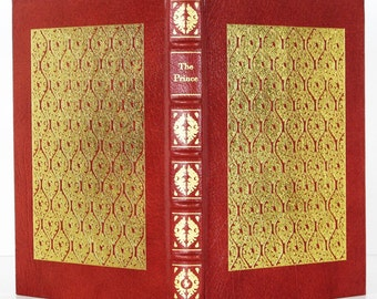 Machiavelli: The Prince - Vintage Easton Press Collector's ed. - Fine Leather Binding / Heirloom Quality - 22kt Gold Gilt - Beautiful Book