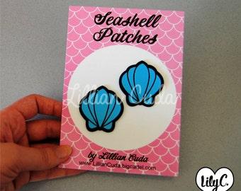 SALE Mermaid Seashell Patch Set (Sew On)