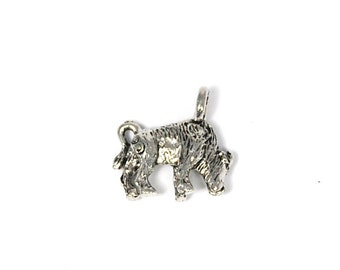 Taurus the Bull Zodiac Antique Silver Pewter Charm -1