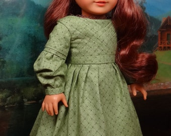 1830s pleated front gown for American Girl or similar 18 inch doll