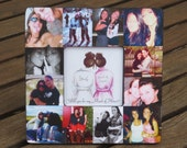 """Maid of Honor Picture Frame, Personalized Sister Gift, Custom Collage Bridesmaid  Frame, Will you be my Maid of Honor? 8"""" x 8"""" Frame"""