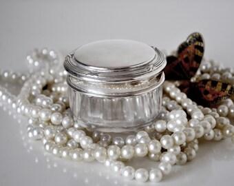Vintage Powder Vanity Jar with Sifter