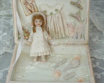Miniature Doll in a presentation box RESERVED