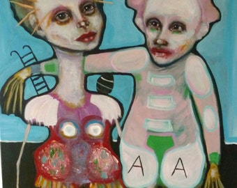painting, original, art, figurative, contemporary, funny