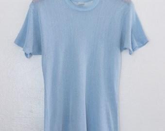 70s fishnet tshirt - M/L
