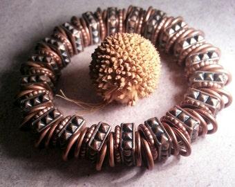 Copper Beads Rustic Bracelet