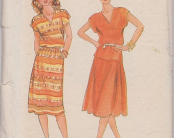 Butterick 4268, Vintage Sewing Pattern, Skirt and Top or Dress, 1970s, Fast & Easy