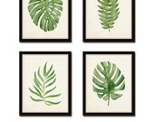 Watercolor Tropical Leaf Set No. 2, Giclee, Art, Botanical Print, Tropical Prints, Coastal Art, Tropical Leaves, Prints, Collage, Leaf Print