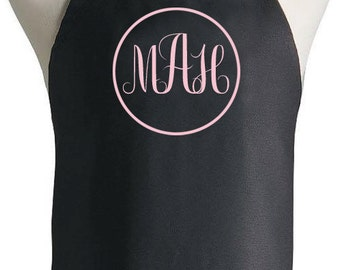 Personalized Apron Custom Monogram Initials Name Gift For Cook, Baker, Chef, Baby Shower, Holiday, Bride, Grill, Customized, BBQ, Kitchen