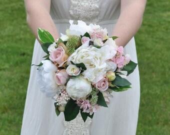 Wedding Flowers Bouquet Keepsake Bridal Blush Pink Ranunculus