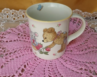 Mikasa Teddy CC018 Bear Mouse Strawberries shower gift baby Mug cup *eb