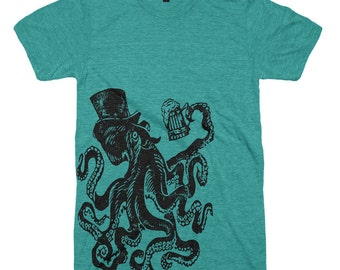 Otis The Octopus T Shirt Drunk Octopus Tee Shirt Drinking Tees Vintage Beer Tee Funny Tee Shirt Gifts For Dads Fathers Day Tentacles T Shirt
