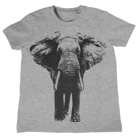 Kids Elephant T-Shirt Boys Girls Birthday Shirt Kids Birthday Gift Present Gift Idea for Child 1st Birthday Zoo Field Trip Shirt Elephants