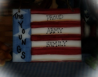 Americana MILITARY family personalized Army Navy Marines Coast Guard Air Force