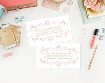 Instant Download - Sugar and Spice Book Request Cards