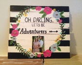 Personalized wedding gift shower gift anniversary gift unique wedding gift pallet sign personalized laurel wreath wall art family sign 5th