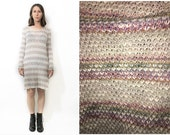 Pastel Rainbow Stripe Light Weight  Long Sweater One Size 90s Inspired