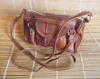 Vintage Tiny Mini Lady's Soft Leather Shoulder Strap Bag