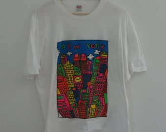 Vintage New York City Graphic T Shirt XL
