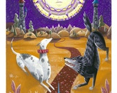 Tarot Art Print: The Moon