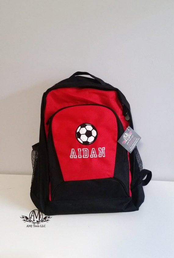 Personalized Soccer backpack kids backpack Monogrammed boys